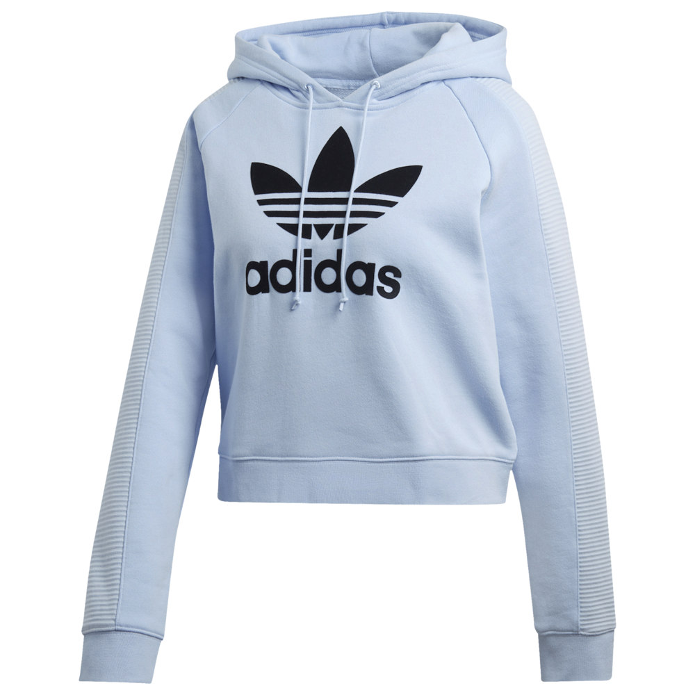 アディダス レディース adidas Originals Strict/Clash Trefoil Crop Hoodie パーカー Periwinkle/Black プルオーバー