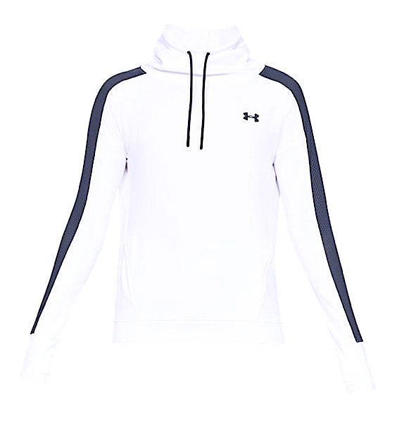 アンダーアーマー レディース パーカー Under Armour Featherweight Fleece Funnel Neck Hoodie フーディー White / Utility Blue