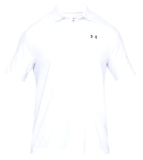 【コレ買ってきて】2/20より注文順に発送開始予定 送料無料 アンダーアーマー メンズ Under Armour Performance Textured Golf Polo Shirt ゴルフ ポロシャツ White