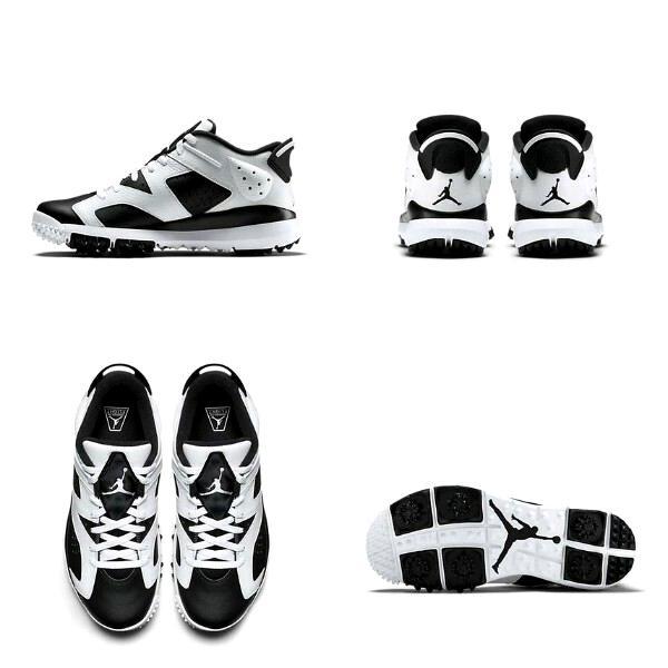 """ナイキ ジョーダン レトロ6 ゴルフ Jordan 6 Retro Golf Shoes """"Oreo"""" ゴルフシューズ Black/White 高額レア"""