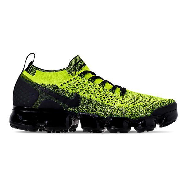 ナイキ メンズ ランニングシューズ Nike Air Vapormax Flyknit 2 スニーカー Volt/Black/Volt