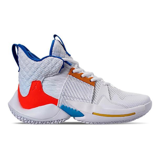 ジョーダン キッズ/レディース ホワイノット Jordan Why Not Zer0.2 GS バッシュ ミニバス White/Total Crimson/Tidal Blue