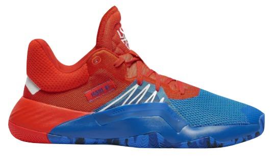 Adidas men Donovan Mitchel adidas D.O.N. Issue 1 basketball shoes BlueRedWhite