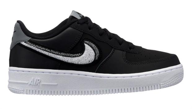 ナイキ キッズ/レディース Nike Air Force 1 Low エアフォース ローカット Black/White/Grey