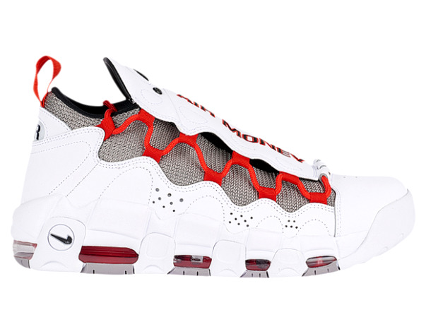 ナイキ メンズ スニーカー Nike Air More Money エア モアマネー White/Black/Habanero Red/Atmosphere Grey