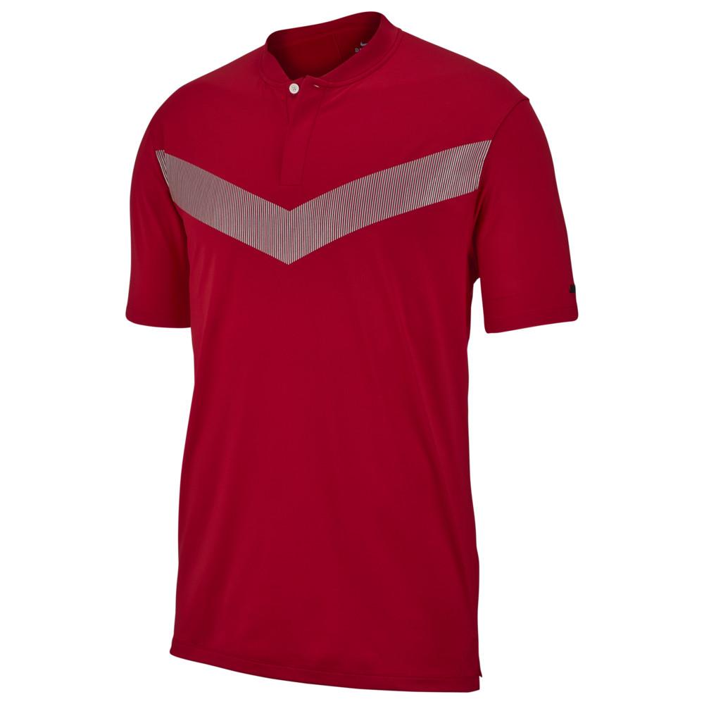 ナイキ メンズ Nike TW Vapor Dry Reflect Golf Polo ポロシャツ 半袖 ゴルフ Gym Red/Black | Tiger Woods