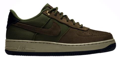 ナイキ キッズ/レディース Nike Air Force 1 Low スニーカー Baroque Brown/Army Olive/Med Olive エアフォース1