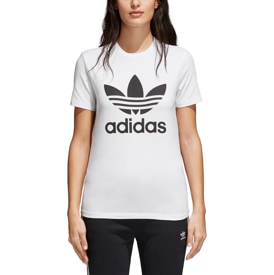 アディダス オリジナルス レディース/ウーマン adidas Originals ADICOLOR TREFOIL T-Shirt Tシャツ 半袖 White/Black