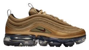 ナイキ ボーイズ/キッズ/レディース スニーカー Nike VaporMax 97 ヴェイパーマックス Met Gold/Varsity Red/Black/White