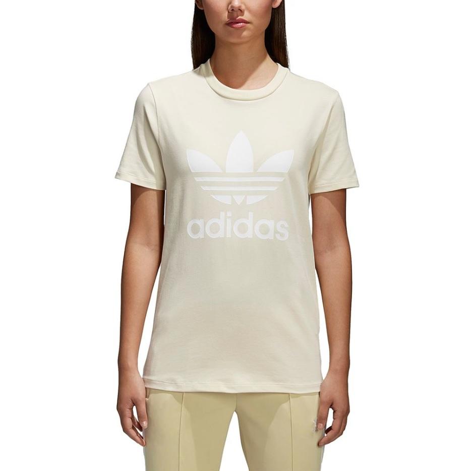 アディダス オリジナルス レディース/ウーマン adidas Originals ADICOLOR TREFOIL T-Shirt Tシャツ 半袖 Mist Sun
