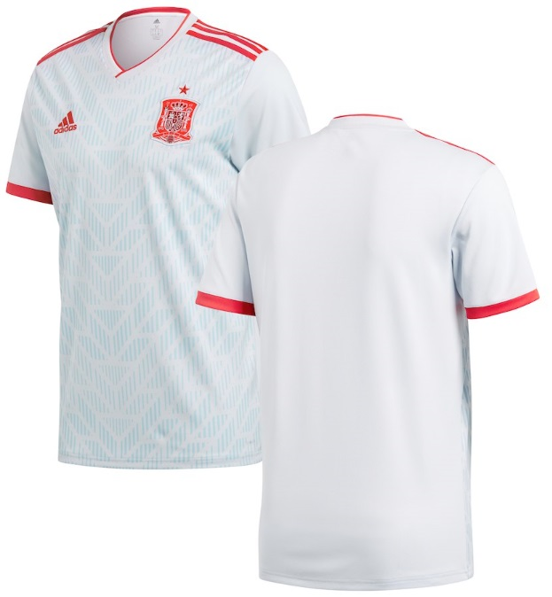 アディダス サッカー レプリカ ジャージー Spain National Team adidas 2018 Away Replica Jersey メンズ Light Blue/Red