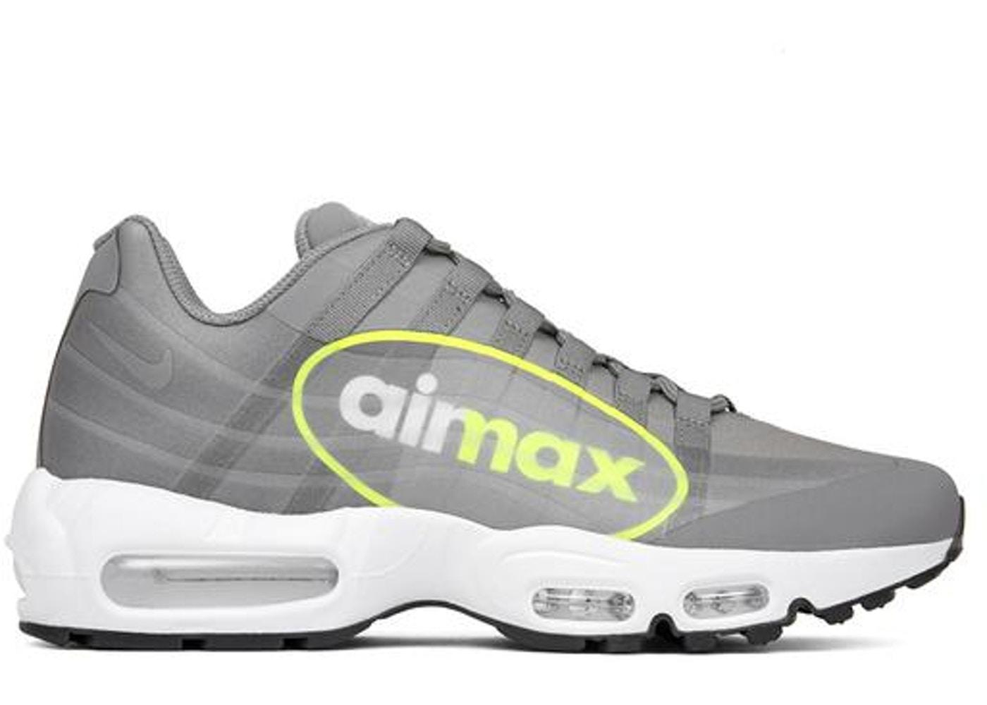 ナイキ メンズ エアマックス95 Nike Air Max 95 NS Big Logo Neon DUST/VOLT-DARK PEWTER-WHITE