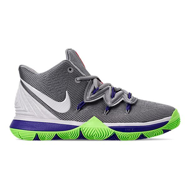 ナイキ キッズ/レディース カイリー5 Nike Kyrie 5 V GS バッシュ Wolf Grey/White/Lime Blast