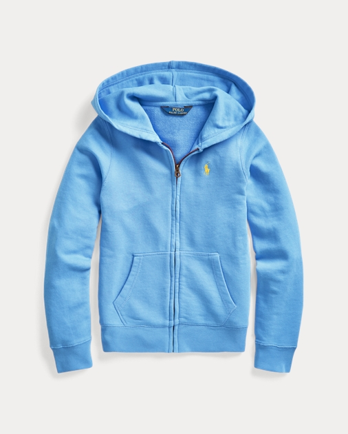 ポロ ラルフローレン ガールズ/キッズ Polo Ralph Lauren Cotton-Blend-Terry Hoodie パーカー HARBOR ISLAND BLUE SIGNAL