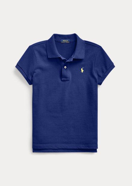 ラルフローレン 7-16 ガールズ/キッズ Polo Ralph Lauren Cotton Mesh Polo Shirt ポロシャツ 半袖 Fall Royal 女の子