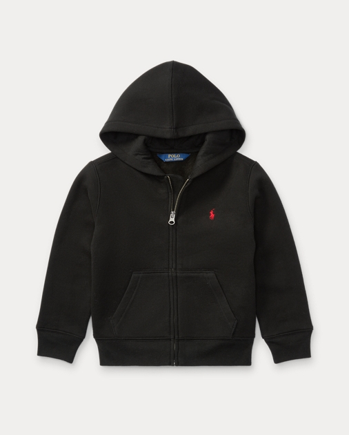 ポロ ラルフローレン 2T-6X ボーイズ/キッズ Polo Ralph Lauren Cotton-Blend-Fleece Hoodie パーカー POLO BLACK