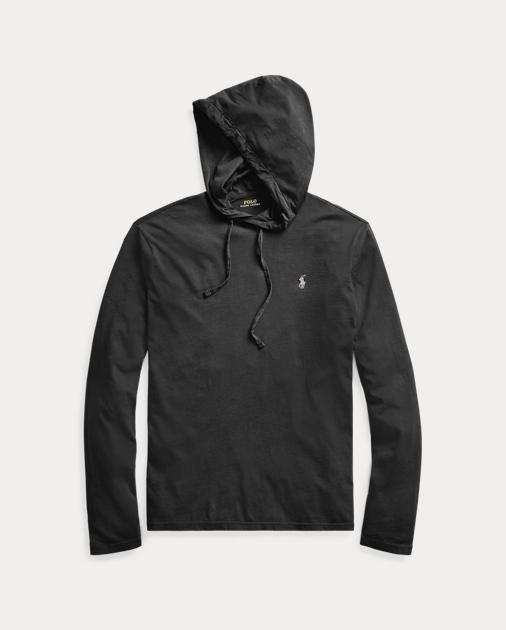 ポロ ラルフローレン メンズ Polo Ralph Lauren Cotton Jersey Hooded T-Shirt Tシャツ 長袖 ロンT POLO BLACK