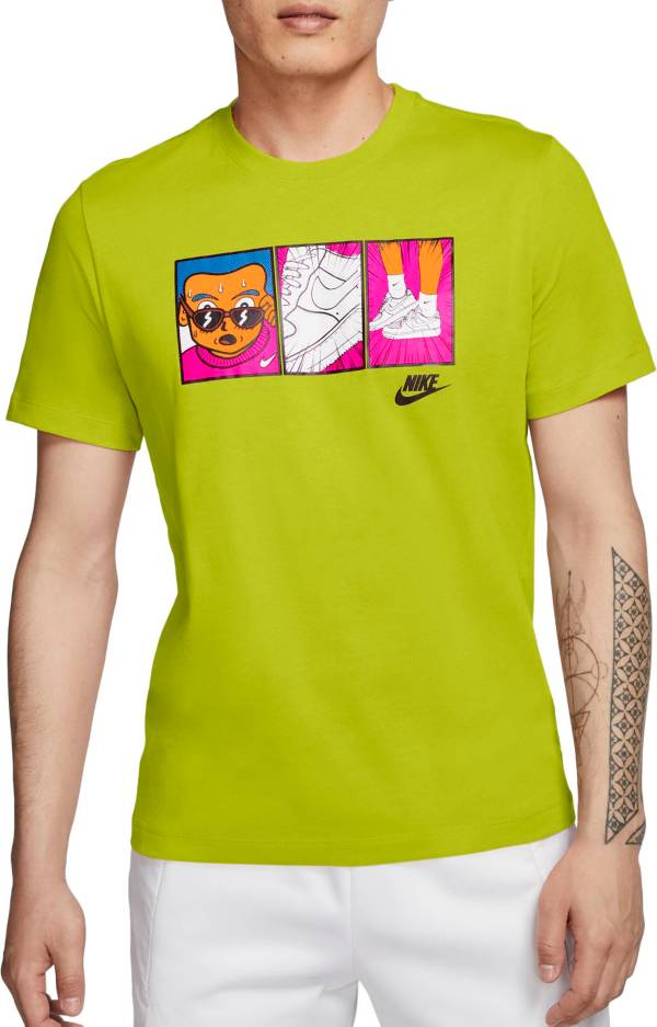 ナイキ メンズ Nike Men's Sportswear Sweatin' The Sneakers Graphic T-Shirt 半袖 BRIGHT CACTUS/BLACK