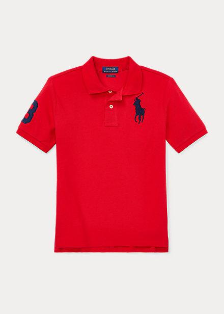 ラルフローレン 8-20 ボーイズ/キッズ Polo Ralph Lauren Big Pony Cotton Mesh Polo ポロシャツ 半袖 RL 2000 Red 男の子