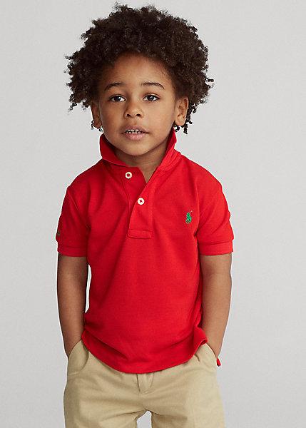 ラルフローレン 2T-7 ボーイズ/キッズ Polo Ralph Lauren The Earth Polo ポロシャツ 半袖 RL 2000 Red 男の子