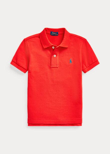 ラルフローレン 2T-7 ボーイズ/キッズ Polo Ralph Lauren Cotton Mesh Polo Shirt ポロシャツ 半袖 African Red 男の子