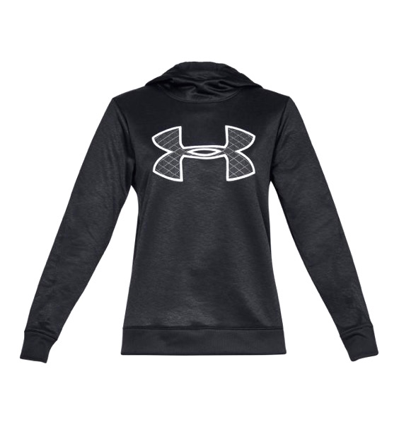アンダーアーマー レディース パーカー Under Armour Armour Fleece Big Logo Hoodie フーディー Black / Black