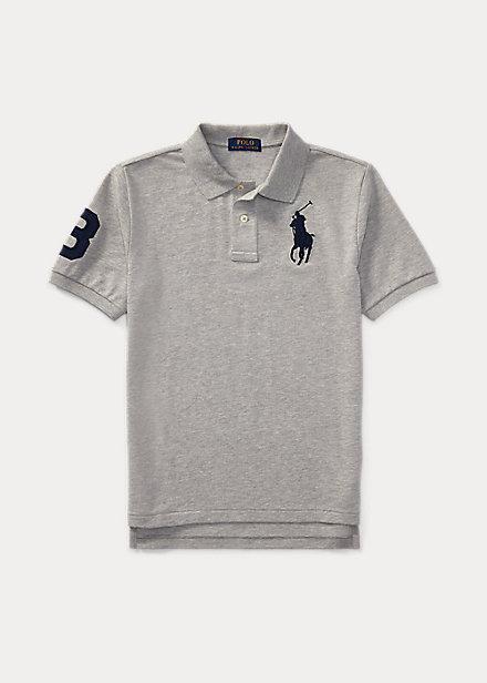 ラルフローレン 8-20 ボーイズ/キッズ Polo Ralph Lauren Big Pony Cotton Mesh Polo ポロシャツ 半袖 Andover Heather 男の子