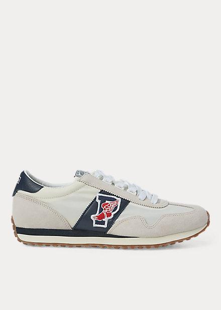 ラルフローレン メンズ スニーカー Polo Ralph Lauren Train 90 Sneaker シューズ Egret/White