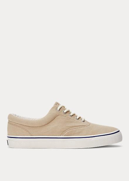 ラルフローレン メンズ スニーカー Polo Ralph Lauren Harpoon Canvas Sneaker キャンバスシューズ Coastal Beige