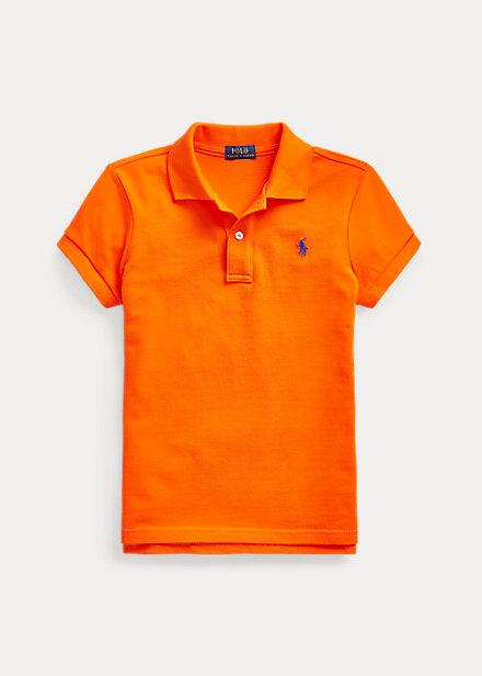 ラルフローレン 7-16 ガールズ/キッズ Polo Ralph Lauren Cotton Mesh Polo Shirt ポロシャツ 半袖 Sailing Orange 女の子