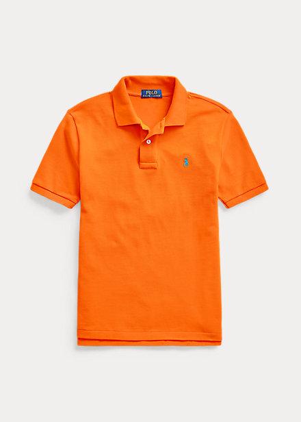 ラルフローレン 8-20 ボーイズ/キッズ Polo Ralph Lauren Cotton Mesh Polo Shirt ポロシャツ 半袖 Resort Orange 男の子