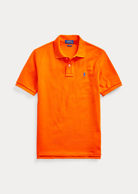 ラルフローレン 8-20 ボーイズ/キッズ Polo Ralph Lauren Cotton Mesh Polo Shirt ポロシャツ 半袖 Sailing Orange 男の子