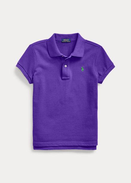 ラルフローレン 7-16 ガールズ/キッズ Polo Ralph Lauren Cotton Mesh Polo Shirt ポロシャツ 半袖 Chalet Purple 女の子