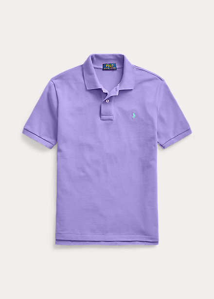 Polo ボーイズ/キッズ Polo Lauren ポロシャツ Ralph 男の子 Mesh Cotton Purple 半袖 Hampton Shirt ラルフローレン 8-20