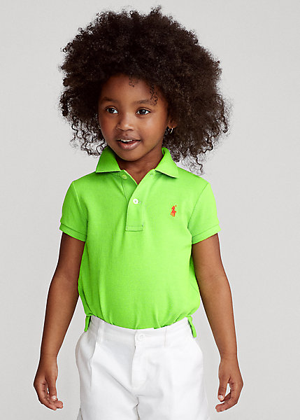 ラルフローレン 2-6X ガールズ/キッズ Polo Ralph Lauren Cotton Mesh Polo Shirt ポロシャツ 半袖 Kiwi Lime 女の子