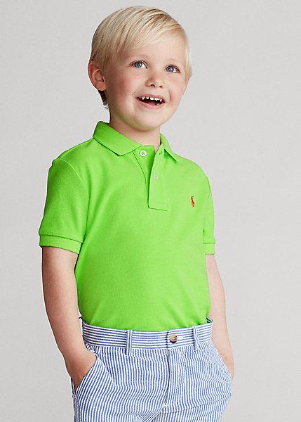 ラルフローレン 2T-7 ボーイズ/キッズ Polo Ralph Lauren Cotton Mesh Polo Shirt ポロシャツ 半袖 Kiwi Lime 男の子