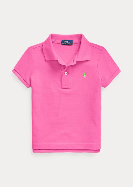 ラルフローレン 2-6X ガールズ/キッズ Polo Ralph Lauren Cotton Mesh Polo Shirt ポロシャツ 半袖 Maui Pink 女の子