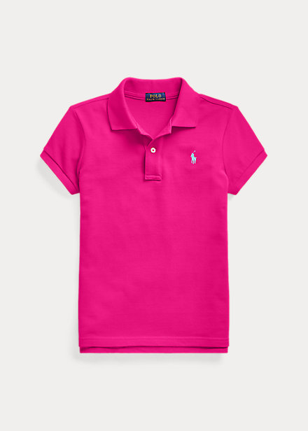ラルフローレン 7-16 ガールズ/キッズ Polo Ralph Lauren Cotton Mesh Polo Shirt ポロシャツ 半袖 Aruba Pink 女の子