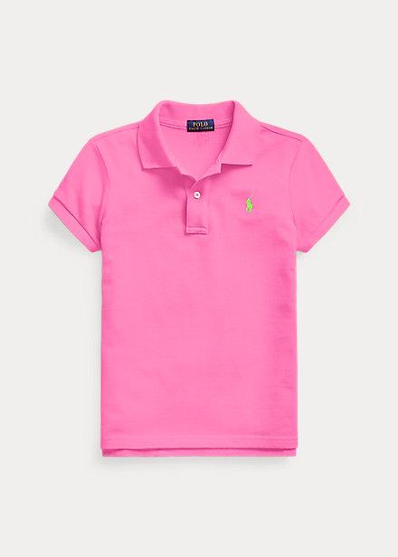 ラルフローレン 7-16 ガールズ/キッズ Polo Ralph Lauren Cotton Mesh Polo Shirt ポロシャツ 半袖 Maui Pink 女の子
