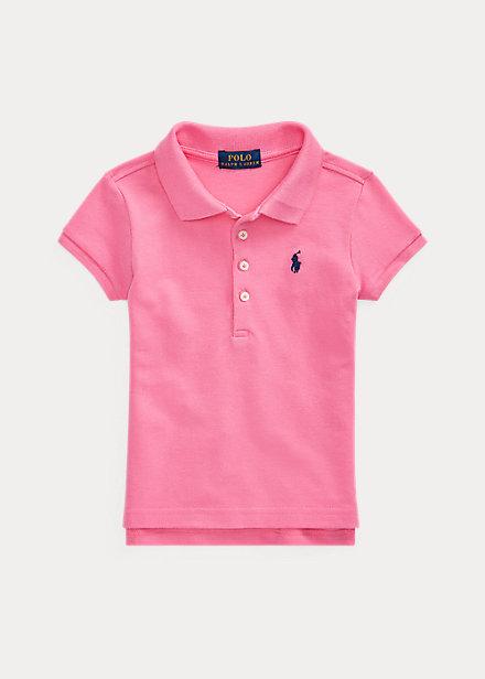 ラルフローレン 2-6X ガールズ/キッズ Polo Ralph Lauren Cotton Polo Shirt ポロシャツ 半袖 Baja Pink 女の子