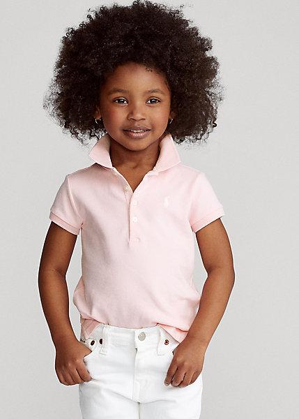 ラルフローレン 2-6X ガールズ/キッズ Polo Ralph Lauren Cotton Polo Shirt ポロシャツ 半袖 Bristol Pink 女の子