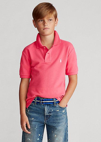 ラルフローレン 8-20 ボーイズ/キッズ Polo Ralph Lauren Cotton Mesh Polo Shirt ポロシャツ 半袖 Hot Pink 男の子