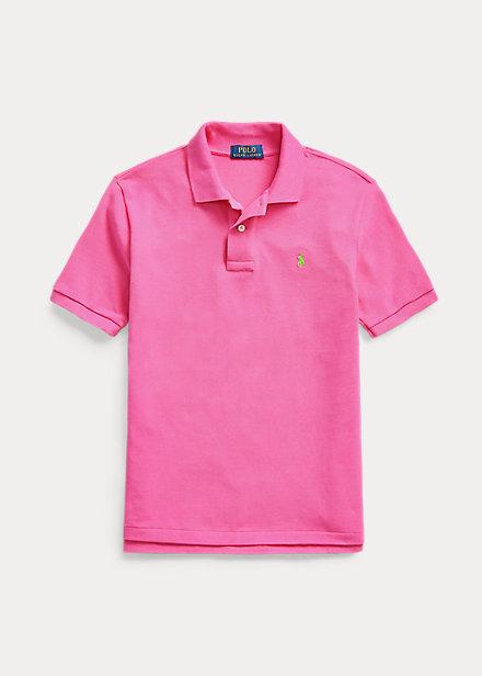 ラルフローレン 8-20 ボーイズ/キッズ Polo Ralph Lauren Cotton Mesh Polo Shirt ポロシャツ 半袖 Maui Pink 男の子