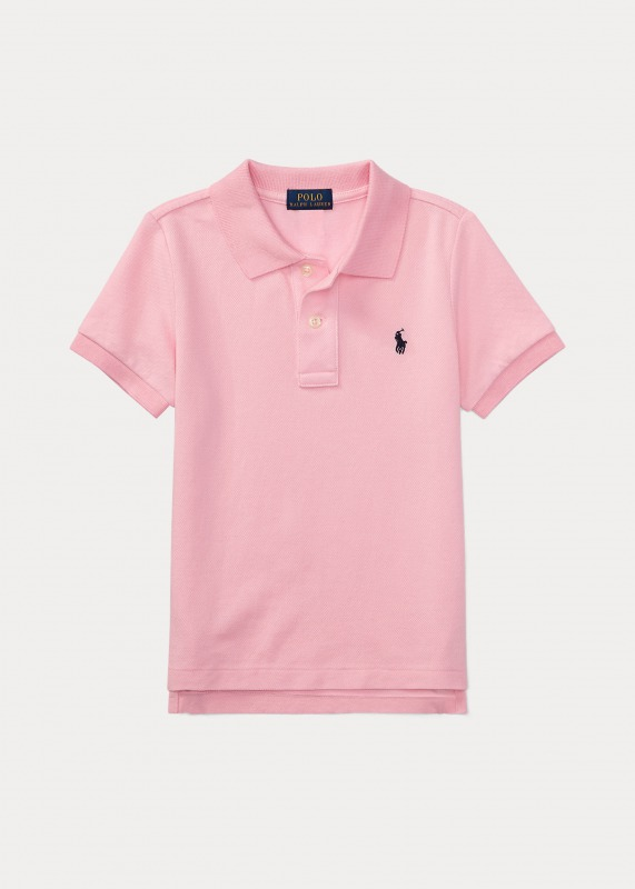 Shirt Cotton ラルフローレン Polo 2T-7 Pink Mesh Ralph 男の子 ポロシャツ 半袖 Polo Lauren ボーイズ/キッズ