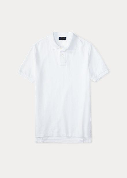 ラルフローレン 8-20 ボーイズ/キッズ Polo Ralph Lauren Cotton Mesh Uniform Polo Shirt ポロシャツ 半袖 White 男の子
