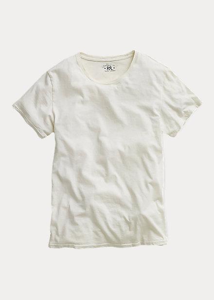 ダブルアールエル メンズ Tシャツ RRL Double RL Cotton Jersey Crewneck T-Shirt 半袖 White