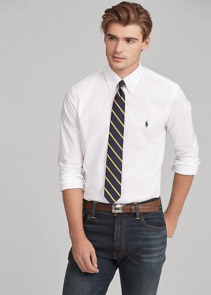 ラルフローレン メンズ シャツ Polo Ralph Lauren Poplin Shirt カッターシャツ Slimサイズ White