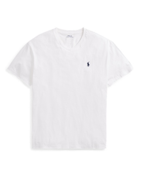 ラルフローレン メンズ Tシャツ Polo Ralph Lauren Classic Fit V-Neck T-Shirt 半袖 WHITE