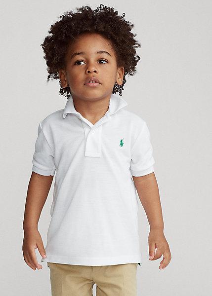 ラルフローレン 2T-7 ボーイズ/キッズ Polo Ralph Lauren The Earth Polo ポロシャツ 半袖 Pure White 男の子