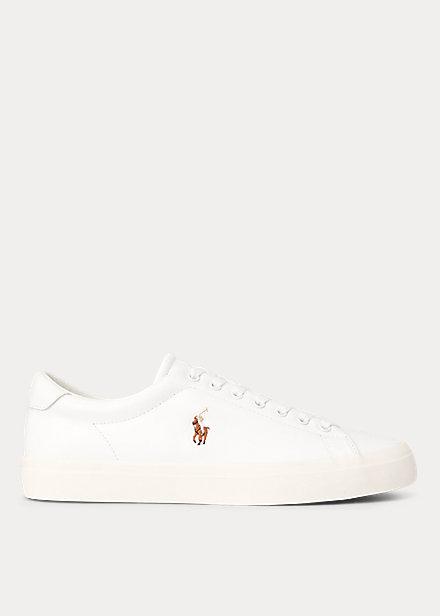 ラルフローレン メンズ スニーカー Polo Ralph Lauren Graffiti Thorton Sneaker レザーシューズ White/White
